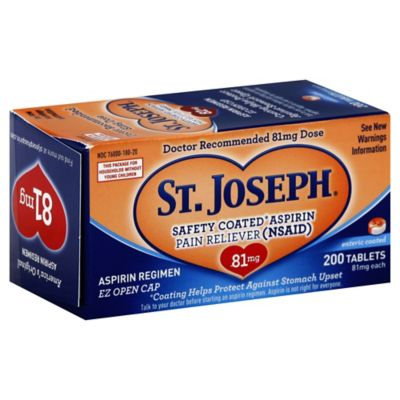 St. Joseph® 200-Count Safety Coated Aspirin Tablets