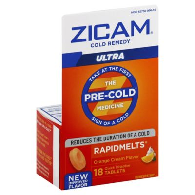 Zicam Ultra Cold Remedy 18-Count Rapid Melts in Orange Cream