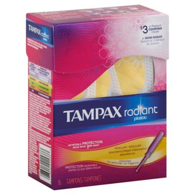 Tampax Radiant 16-Count Regular Unscented Tampons