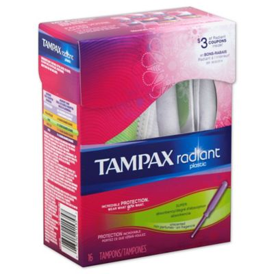 Tampax Radiant 16-Count Super Unscented Tampons