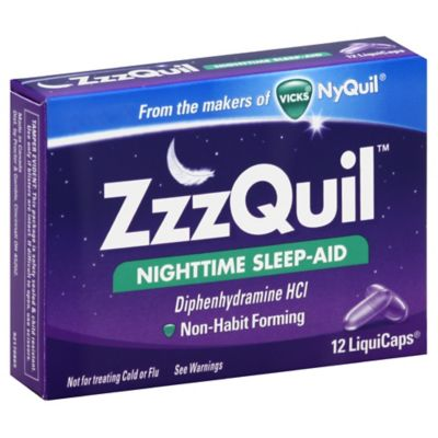 Vicks® ZzzQuil™ Nighttime Sleep-Aid 12-Count LiquiCaps®