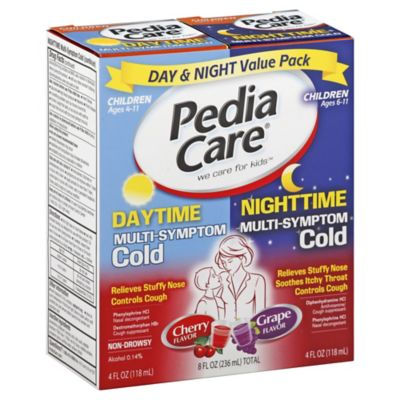 PediaCare® Children's Multi-Symptom Cold 8 oz. Daytime & Nighttime Value Pack Cherry/Grape