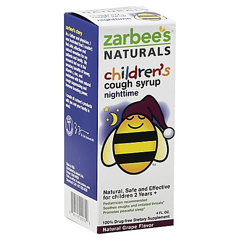 Zarbee S All Natural 4 Oz Children S Nighttime Cough Syrup