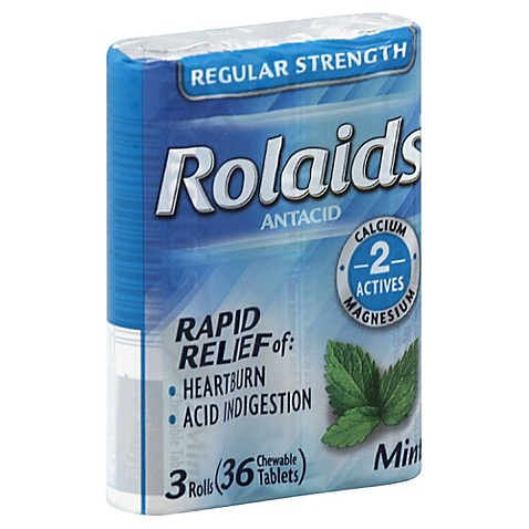 Rolaids Regular Strength 36 Count Chewable Antacid Tablets