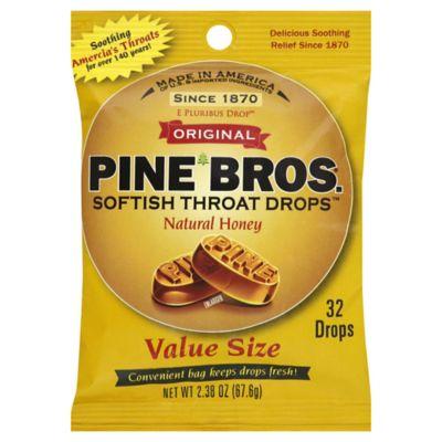 Pine Bros. Natural Honey 32-Count Throat Drops