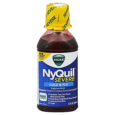 Buy VicksR NyQuilR 12 Oz Severe Cold And Flu Nighttime Reflief Liquid Soothing Berry Flavor