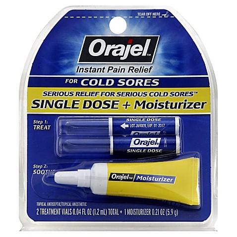 Orajel 174 Cold Sore Treatment 0 04 Oz Single Dose Bed Bath