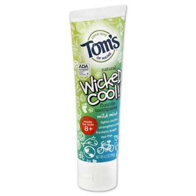 Tom's Of Maine Wicked Cool Anticavity Children's Toothpaste in Mild Mint Flavor