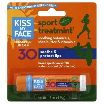 Kiss My Face 0.15 oz. Soothe & Protect Sport SPF 30 Lip Balm in Natural Mint Flavor
