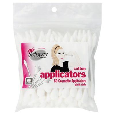 Swisspers® 80-Count Cotton Cosmetic Applicators
