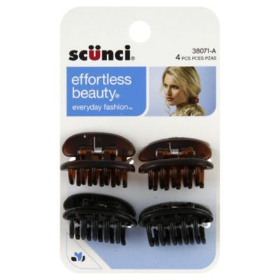 Scunci 4-Count Jaw Clip Flat Top Hair Clip