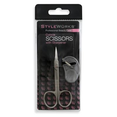 STYLEWURKS™ Cuticle Scissors with Sharpener