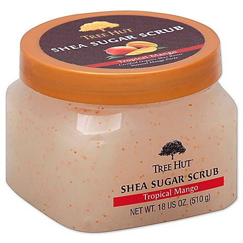 ... 18 oz. Shea Sugar Body Scrub in Tropical Mango from Bed Bath & Beyond