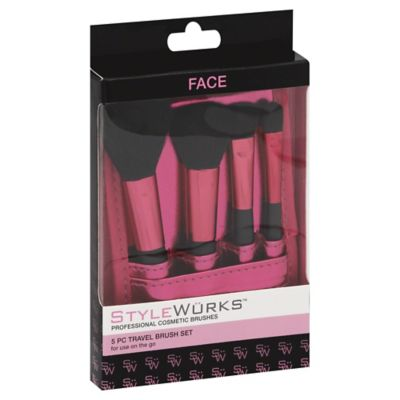 Stylewurks 5-Piece Travel Brush Set