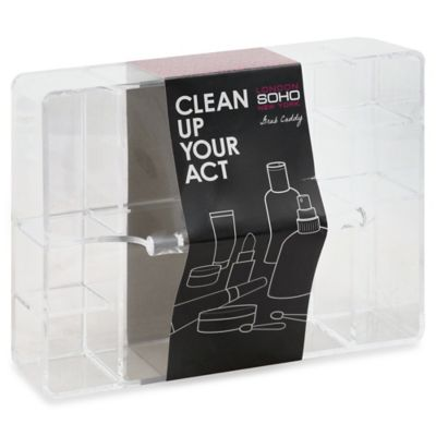 Soho Clean Up Your Act Clear Acrylic Cosmetic Caddy