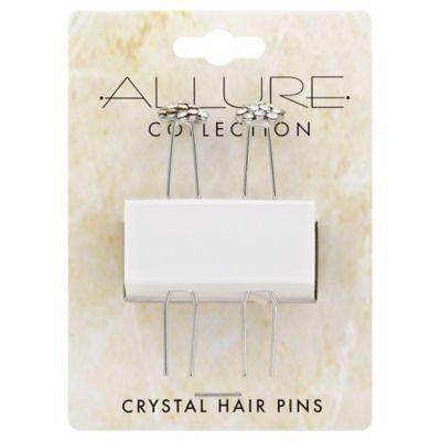 Allure 2-Piece Rhinestone Chignon Crystal Hair Pins