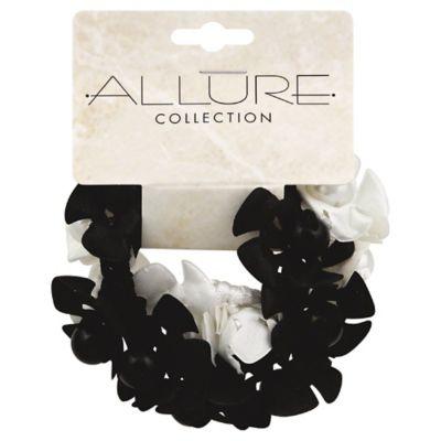 Allure 2-Pack Pearl Ponytail Holder in Black/White
