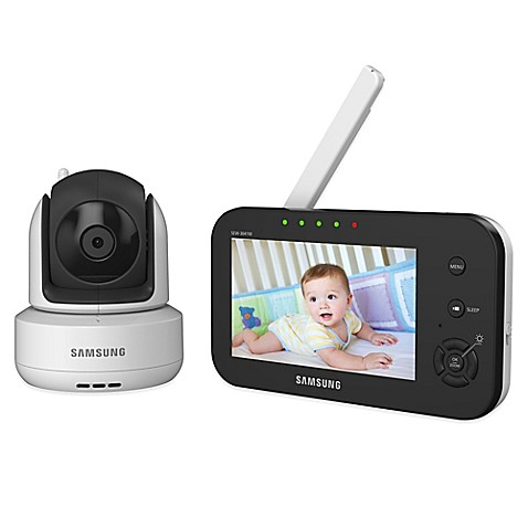 samsung brilliantview digital video baby monitor with 4 3 inch color lcd screen buybuy baby. Black Bedroom Furniture Sets. Home Design Ideas
