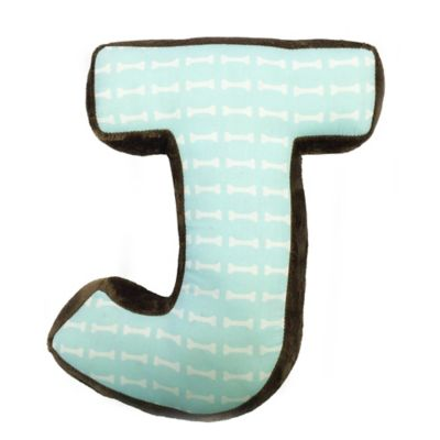 "One Grace Place Puppy Pal Letter ""J"" Pillow"