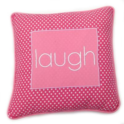 One Grace Place Simplicity Laugh Pillow in Pink
