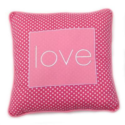 One Grace Place Simplicity Love Pillow in Pink