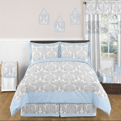 Sweet Jojo Designs Avery 3-Piece Full/Queen Bedding Set in Blue