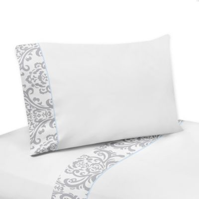 Sweet Jojo Designs Avery 3-Piece Twin Sheet Set in Blue