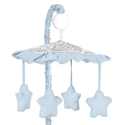 Sweet Jojo Designs Avery Musical Mobile in Blue and Grey