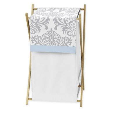 Sweet Jojo Designs Avery Hamper in Blue and Grey