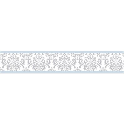 Sweet Jojo Designs Avery Wallpaper Border in Blue and Grey