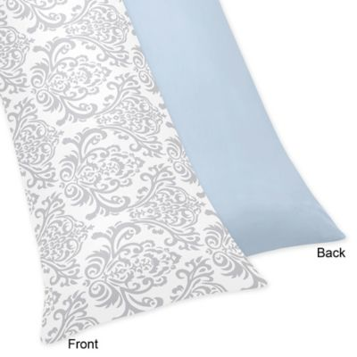 Sweet Jojo Designs Avery Body Pillow Case in Blue and Grey