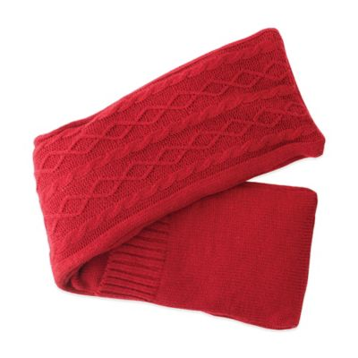 Soothing Neck Wrap in Red Cable Knit