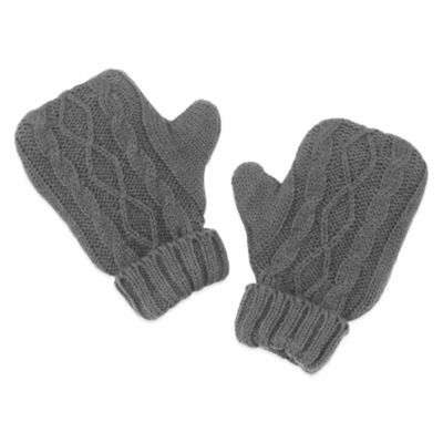 Mitten Hand Warmers in Grey Cable Knit (Set of 2)
