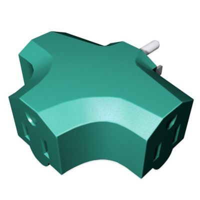 Stanley® 3-Outlet Wall Adapter in Green