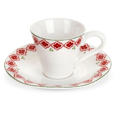 Sophie Conran for Portmeirion® Christmas Espresso Cup and Saucer Set in Candy Cane