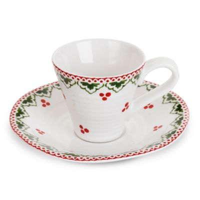 Sophie Conran for Portmeirion® Christmas Espresso Cup and Saucer Set in Sugar Plum Fairy