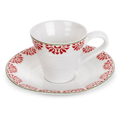 Sophie Conran for Portmeirion® Christmas Espresso Cup and Saucer Set in Christmas Star