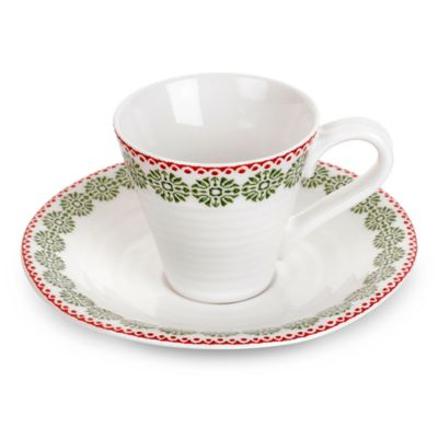 Sophie Conran for Portmeirion® Christmas Espresso Cup and Saucer Set in Snowflake