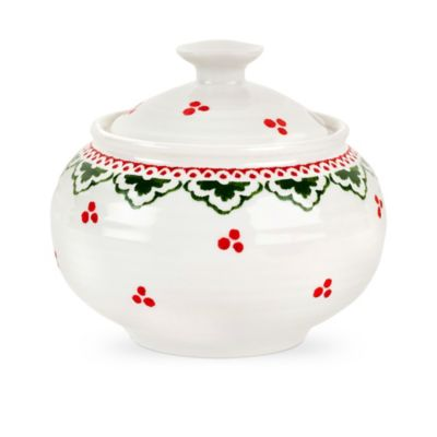 Sophie Conran for Portmeirion® Christmas Covered Sugar Bowl in Sugar Plum Fairy