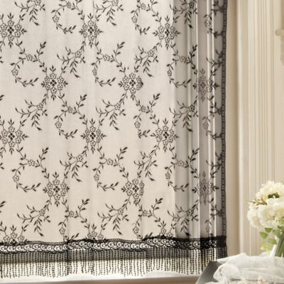 Downton Abbey® Yorkshire Collection Lace 63-Inch Window Curtain Panel in Black