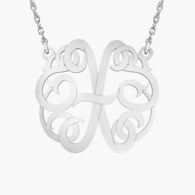 """Alison & Ivy Sterling Silver 18-Inch Chain Ribbon Letter """"X"""" Necklace"""