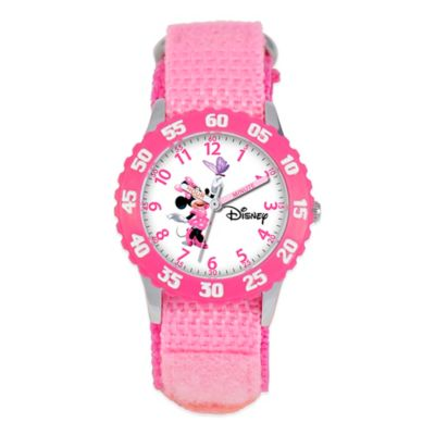Stainless Steel w/Pink Strap Children's Watches