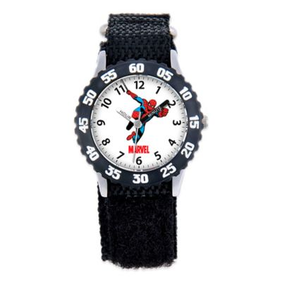 Marvel Children's 32mm Spider-Man Time Teacher Watch in Black