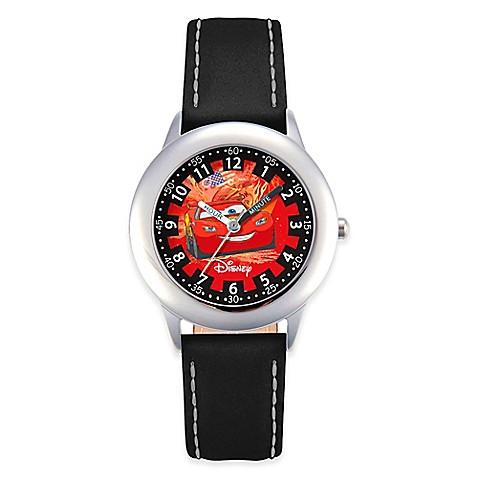Buy disney children 39 s lightning mcqueen cars time teacher watch in stainless steel w black for Mcqueen watches