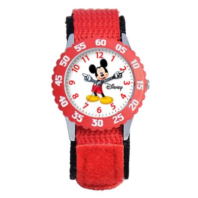 Stainless Steel with Red Strap Childrens Watches