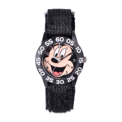 Disney® Children's 32mm Smiling Mickey Mouse Plastic Watch in Black