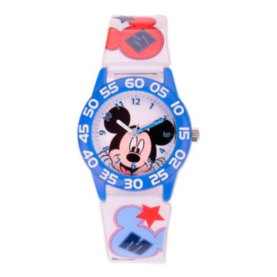 Disney® Children's 32mm Mickey Mouse All-Star Plastic Watch in White