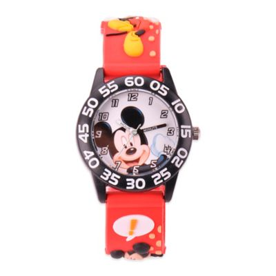 Disney® Children's Mickey Mouse 3D Plastic Watch in Red