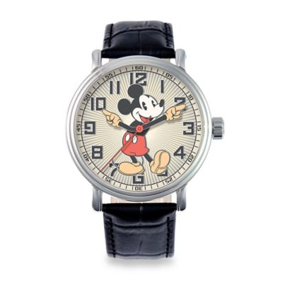 Disney® Men's 43mm Mickey Mouse Vintage Watch in Alloy with Articulating Hands