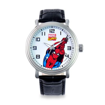 Marvel Men's 43mm Spider-Man Vintage Watch in Alloy with Black Strap